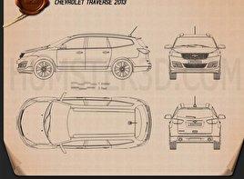 Chevrolet Traverse 2013 Blueprint