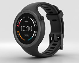 3D model of Motorola Moto 360 Sport Black
