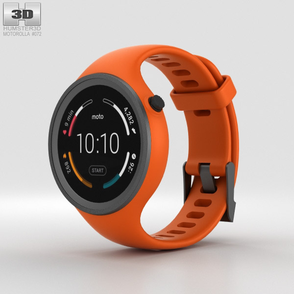 Motorola Moto 360 Sport Flame Orange 3D model