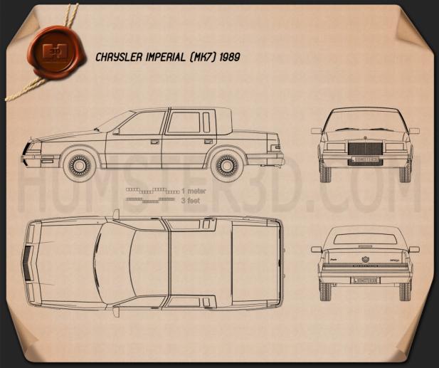 Chrysler Imperial 1989 Blueprint