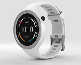 3D model of Motorola Moto 360 Sport White