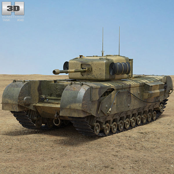 Churchill Tank Mk IV 3D model
