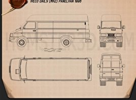 Iveco Daily Panel Van 1996 Blueprint