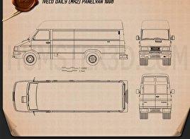 Iveco Daily Panel Van 1996 Blueprint