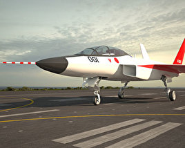 3D model of Mitsubishi ATD-X Shinshin