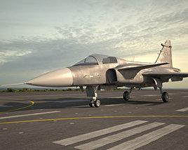 Saab JAS 39 Gripen 3D model
