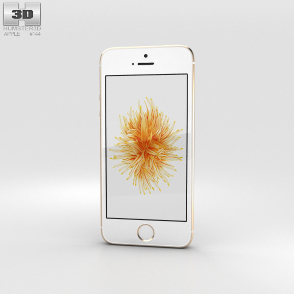 3D model of Apple iPhone SE Gold