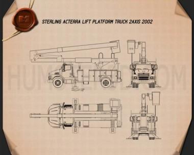 Sterling Acterra Lift Platform Truck 2002 Blueprint