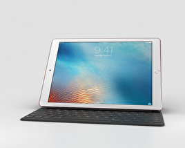 3D model of Apple iPad Pro 9.7-inch Rose Gold