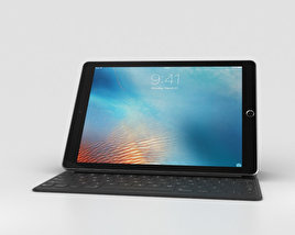 3D model of Apple iPad Pro 9.7-inch Space Gray