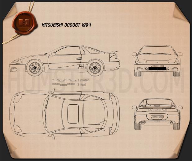Mitsubishi 3000GT 1994 Blueprint