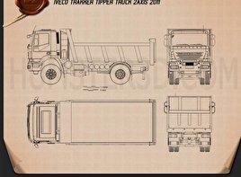 Iveco Trakker Dump Truck 2012 Blueprint