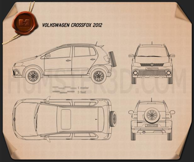Volkswagen CrossFox 2012 Blueprint