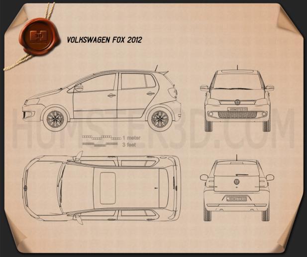 Volkswagen Fox 5-door 2012 Blueprint