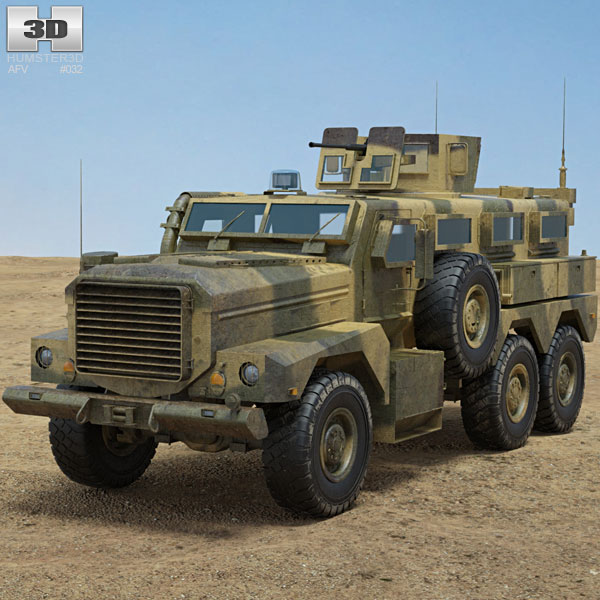 Cougar HE Infantry Mobility Vehicle 3D model
