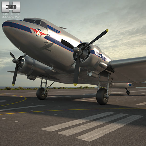 3D model of Douglas DC-3