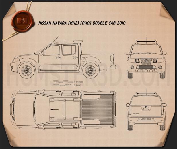 Nissan Navara (D40) Double Cab 2010 Blueprint