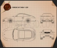Porsche 911 Targa 4 2011 Blueprint