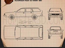 Volkswagen Passat (B2) variant 1981 Blueprint