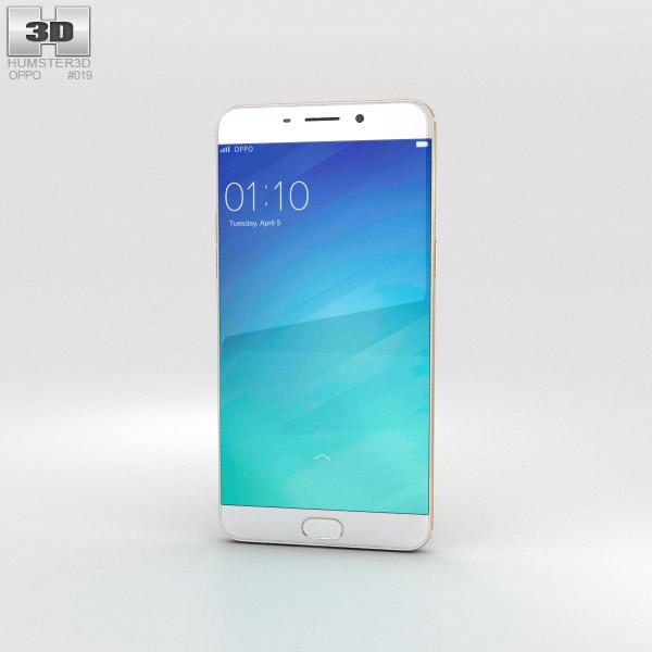 3D model of Oppo R9 Plus Gold