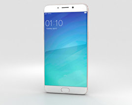 3D model of Oppo R9 Plus Rose Gold