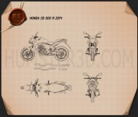 Honda CB300R 2014 Blueprint