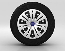 3D model of Ford Galaxy Wheel 16 inch 001