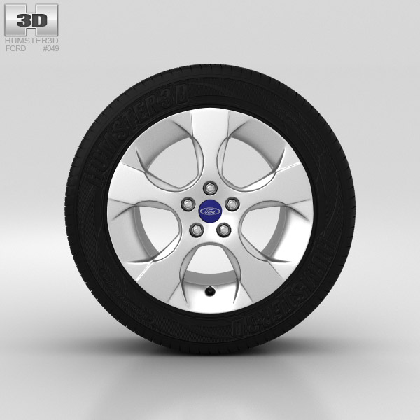 Ford Galaxy Wheel 16 inch 002 3d model