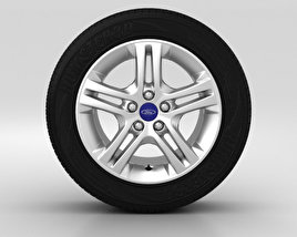 3D model of Ford Galaxy Wheel 16 inch 003