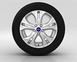 3D model of Ford Galaxy Wheel 17 inch 001