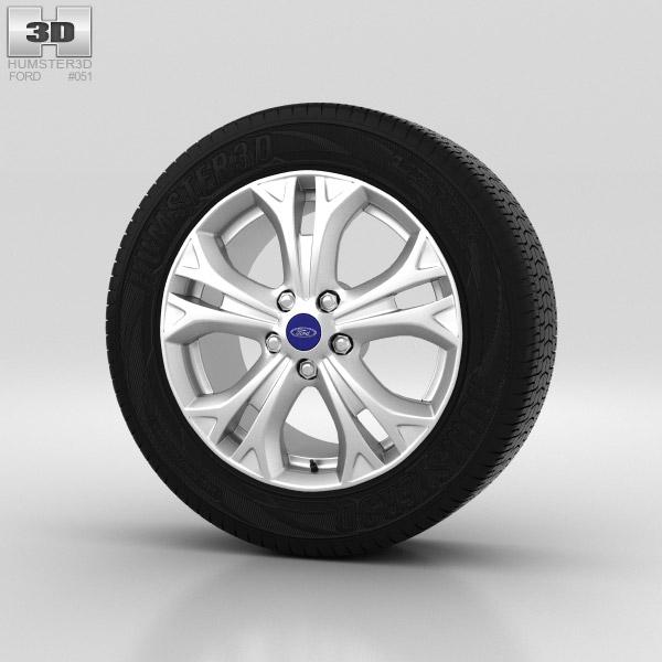 Ford Galaxy Wheel 17 inch 001 3d model