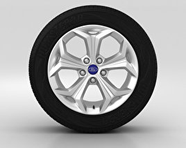 3D model of Ford Galaxy Wheel 18 inch 001