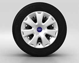 3D model of Ford Grand C Max Wheel 16 inch 001