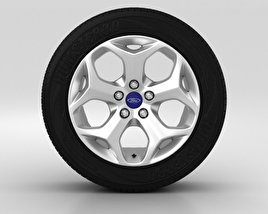 3D model of Ford Grand C Max Wheel 16 inch 002