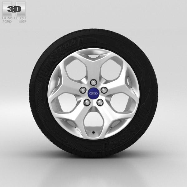 Ford Grand C Max Wheel 16 inch 002 3d model