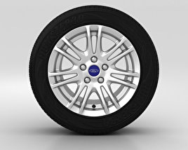 3D model of Ford Grand C Max Wheel 16 inch 003