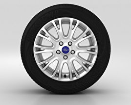 3D model of Ford Grand C Max Wheel 16 inch 004