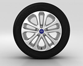 3D model of Ford Grand C Max Wheel 17 inch 001