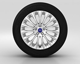 3D model of Ford Grand C Max Wheel 17 inch 002