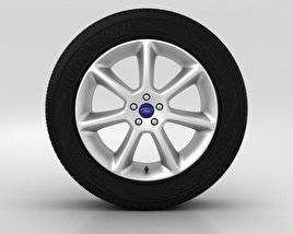 3D model of Ford Grand C Max Wheel 18 inch 001