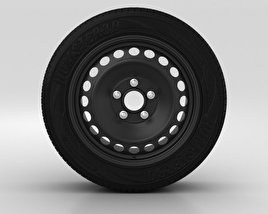 3D model of Ford S Max Wheel 16 inch 001