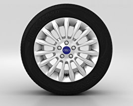3D model of Ford S Max Wheel 17 inch 001