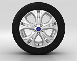 3D model of Ford S Max Wheel 17 inch 002