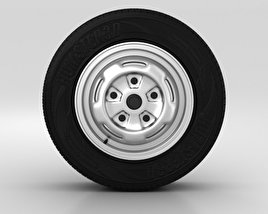3D model of Ford Transit Wheel 15 inch 001