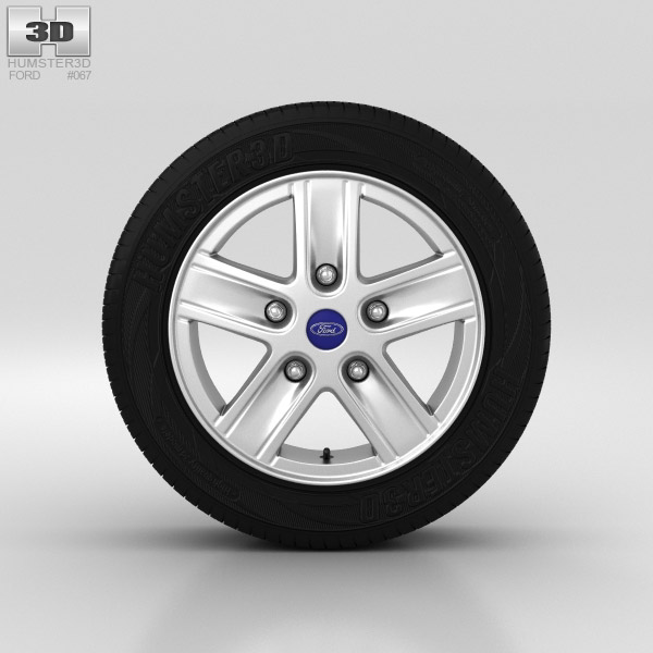 3D model of Ford Transit Wheel 16 inch 001