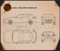 Mazda 3 hatchback 2014 Blueprint