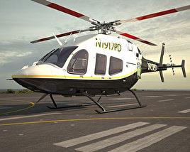 Bell 429 GlobalRanger Police helicopter 3D model
