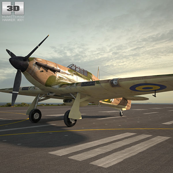 3D model of Hawker Hurricane
