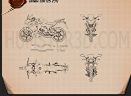 Honda CBR125R 2012 Blueprint