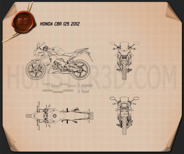 Honda CBR125R 2012 Blueprint